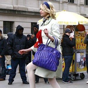 Valentino Maison Purple Studded bag Gossip Girl